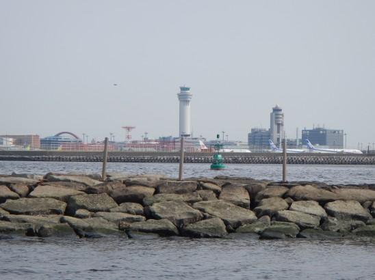 キャンプ場から観る羽田空港
