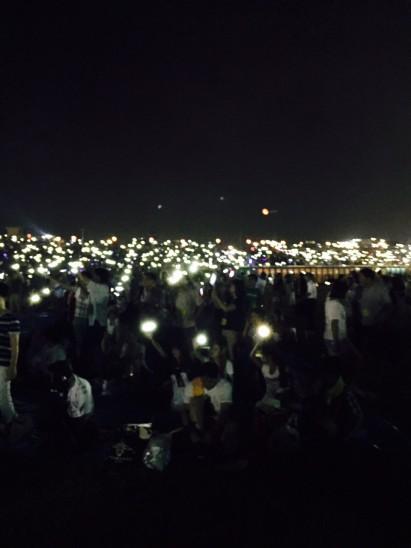 60万個のライトです。これも綺麗でした。